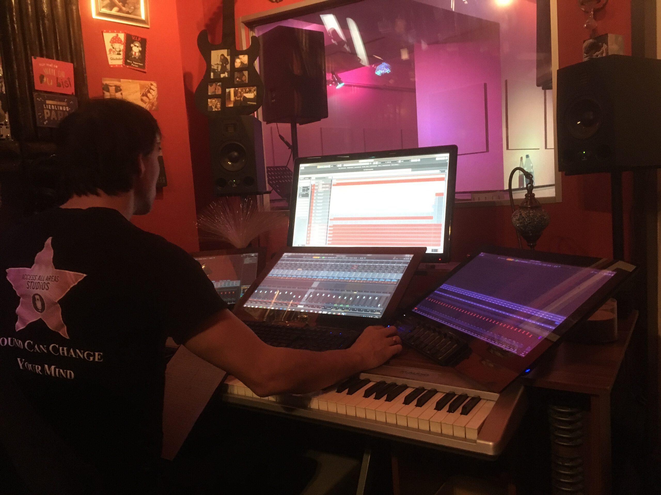 start Studioaufnahmen